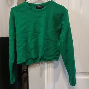 Forever 21 Green cropped sweater